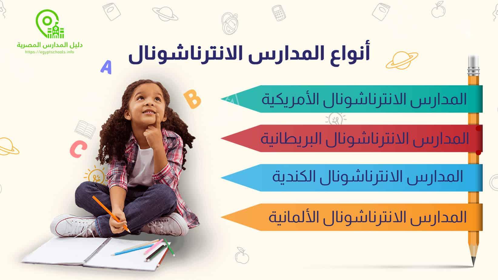 أنواع المدارس الانترناشونال في مصر