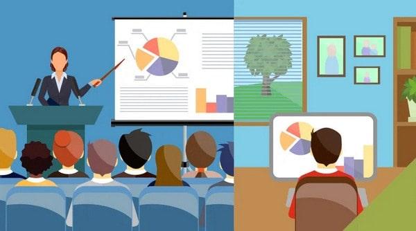 أوجه الشبه والاختلاف بين التعلم عن بعد والتعلم في فصول الدراسة