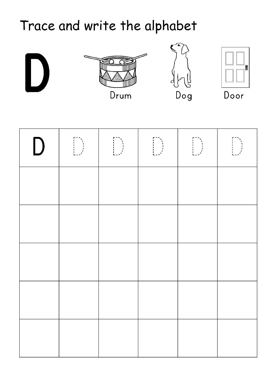 الحروف الابجدية ورك شيت - Alphabet Tracing Writing Worksheet