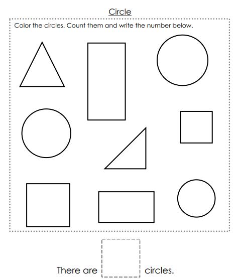 حروف واشكال ورك شيت - Alphabet And Shapes Worksheet