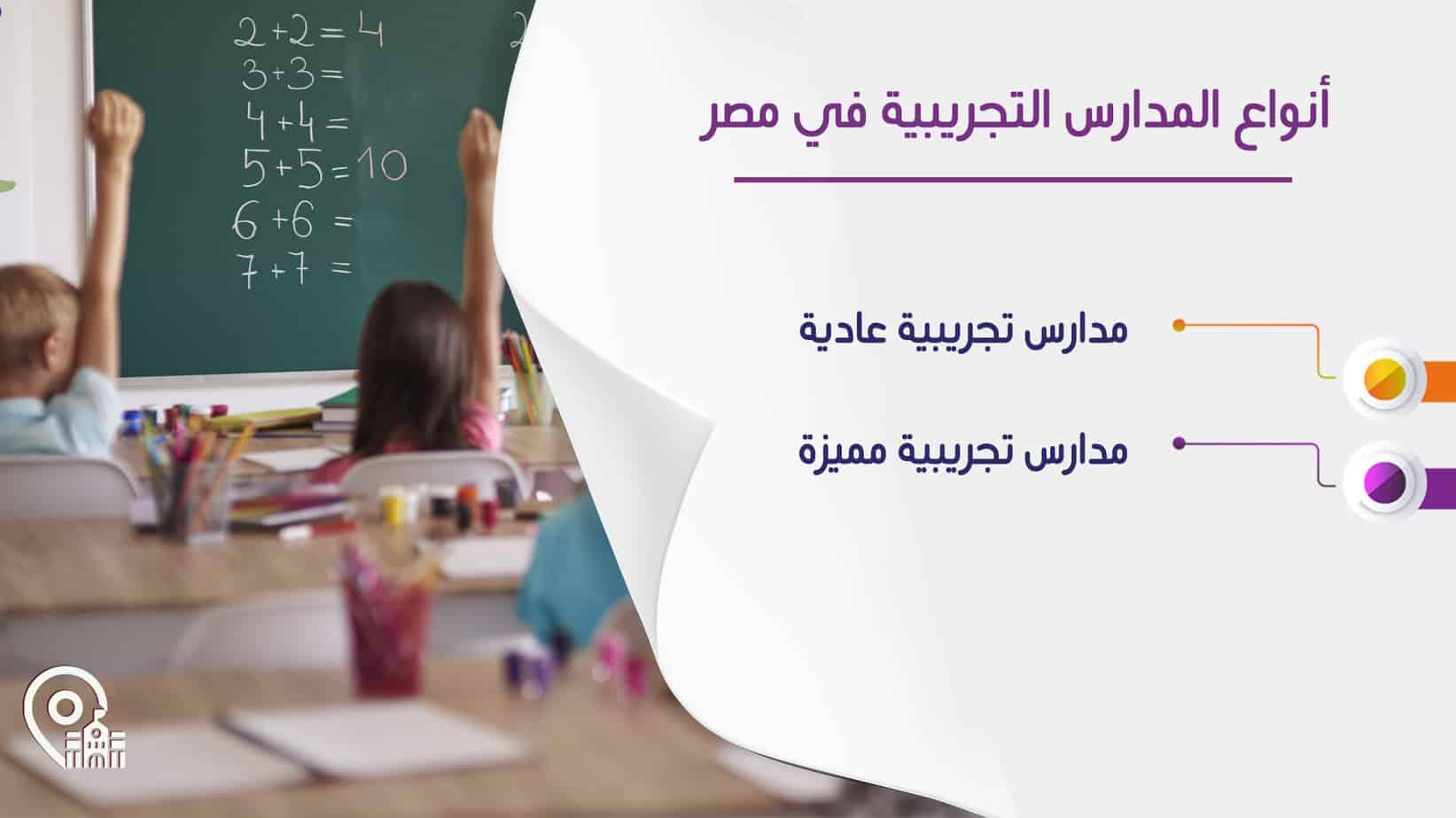 أنواع المدارس التجريبية في مصر