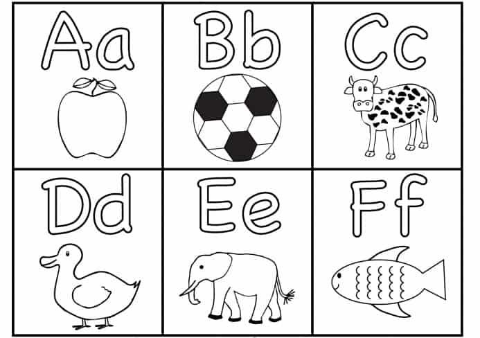 الحروف الانجليزية ورك شيت - A to Z Alphabet Worksheet