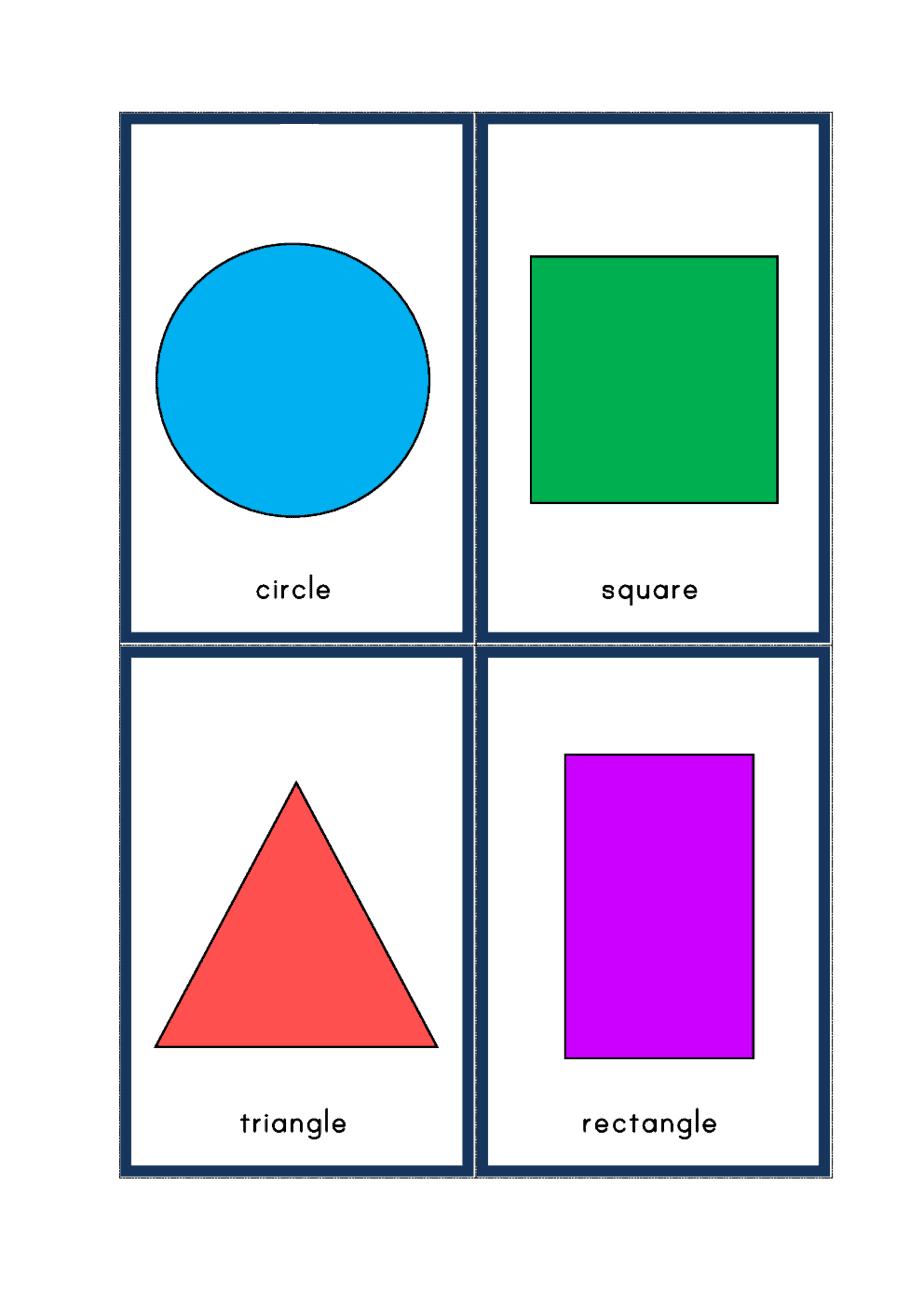 اشكال ورك شيت - Shapes Worksheet