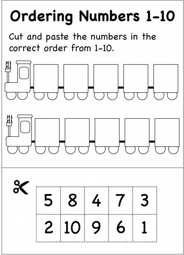 ترتيب الارقام ورك شيت - Ordering Numbers Worksheet