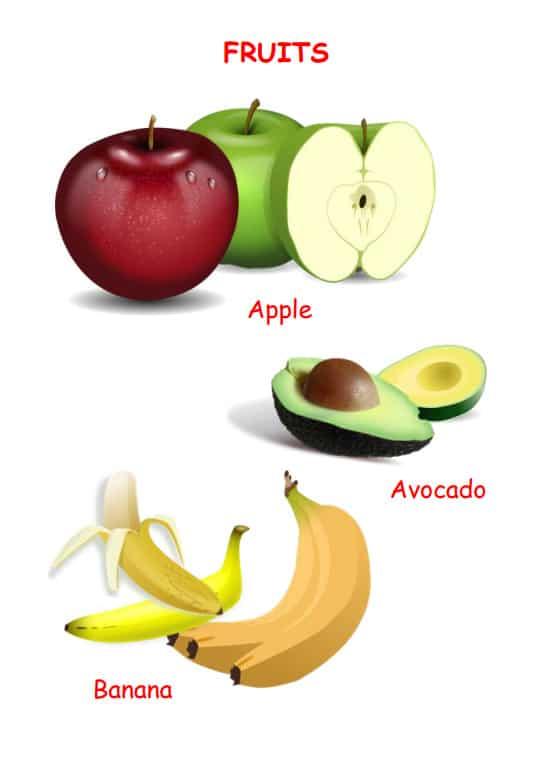 خضروات و فواكه ورك شيت - Vegetables & Fruits Worksheet