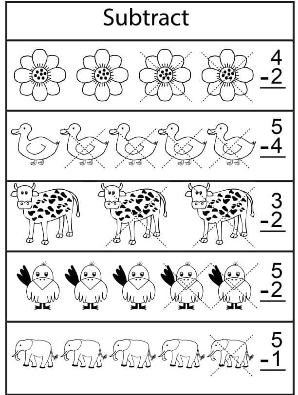 طرح رقمين ورك شيت - Subtraction Worksheet