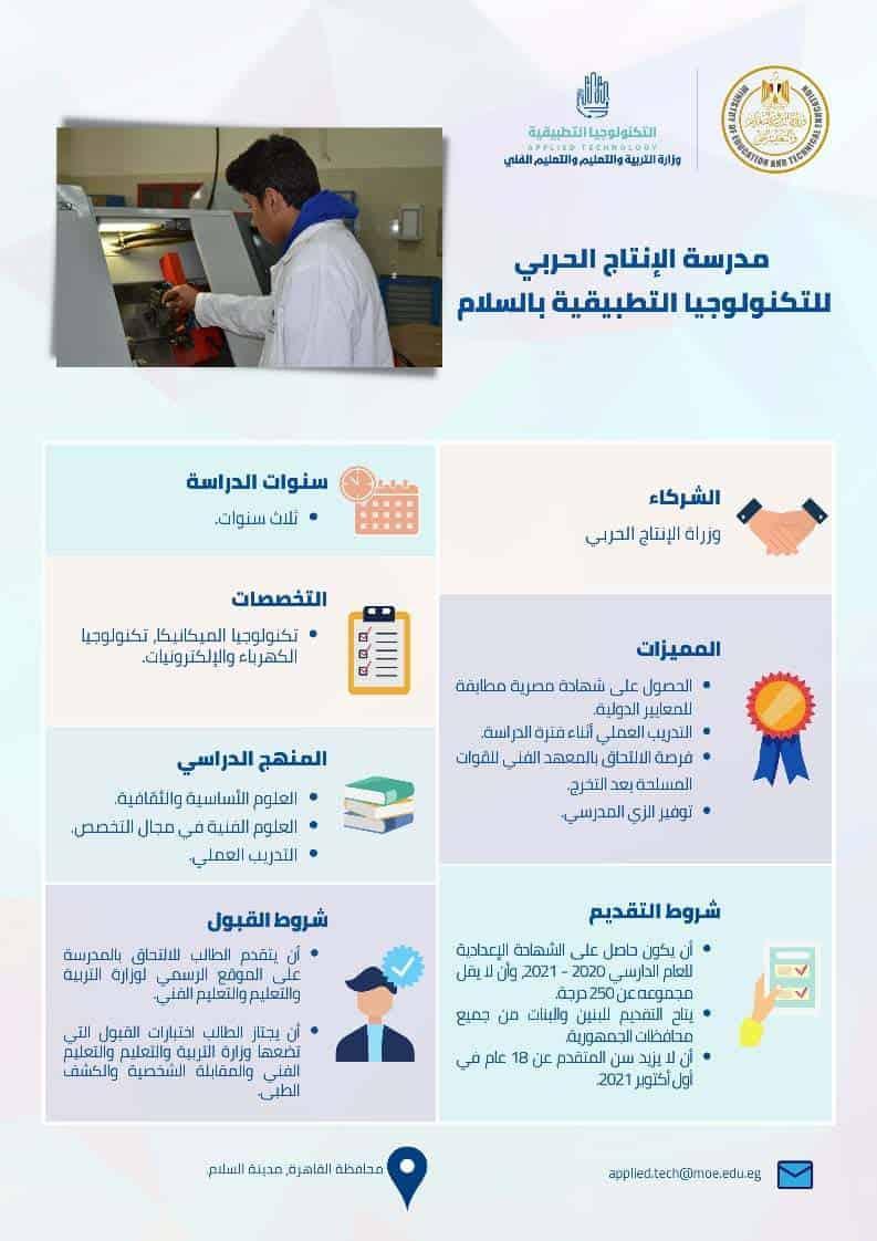 مدرسة الانتاج الحربي للتكنولوجيا التطبيقية بمدينة السلام